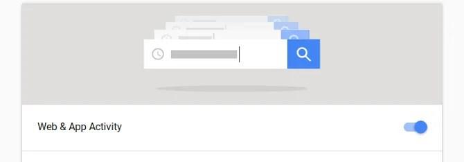 Modifica delle impostazioni dell'attività di Google