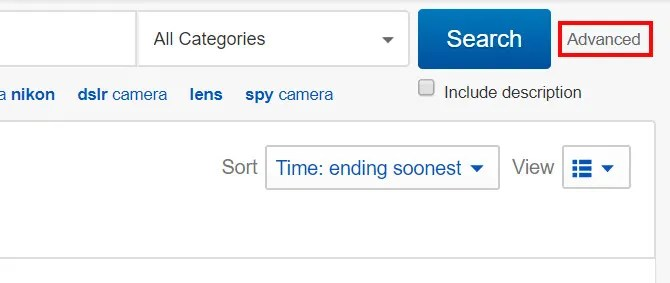 ricerca avanzata ebay