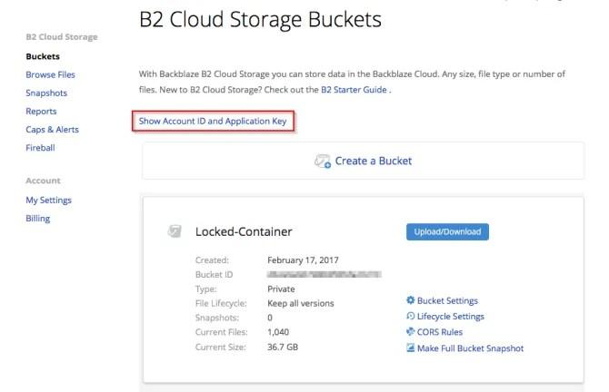 servizio di archiviazione cloud backblaze b2