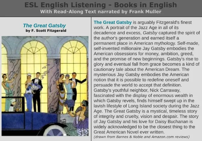 Audiobook in streaming gratuito di Great Gatsby