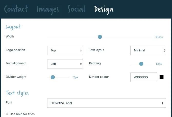 si.gnatu.re è una semplice app per le firme che personalizza il layout