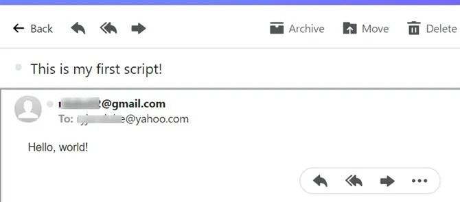 invio di email con script di google