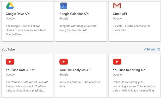 google service apis