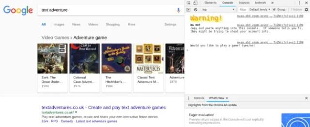 google text adventure game