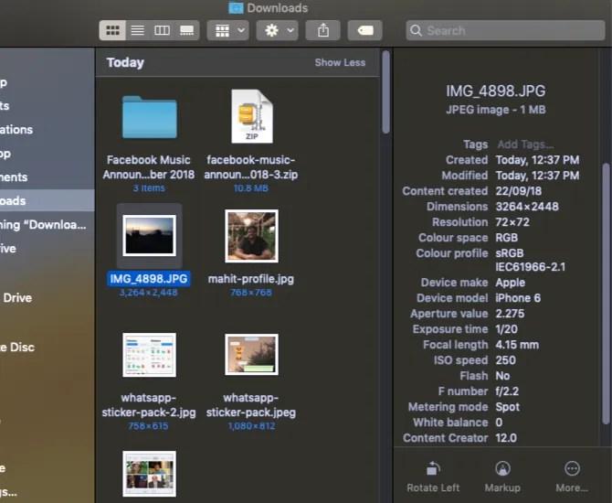 macOS Mojave nuove funzionalità della barra laterale
