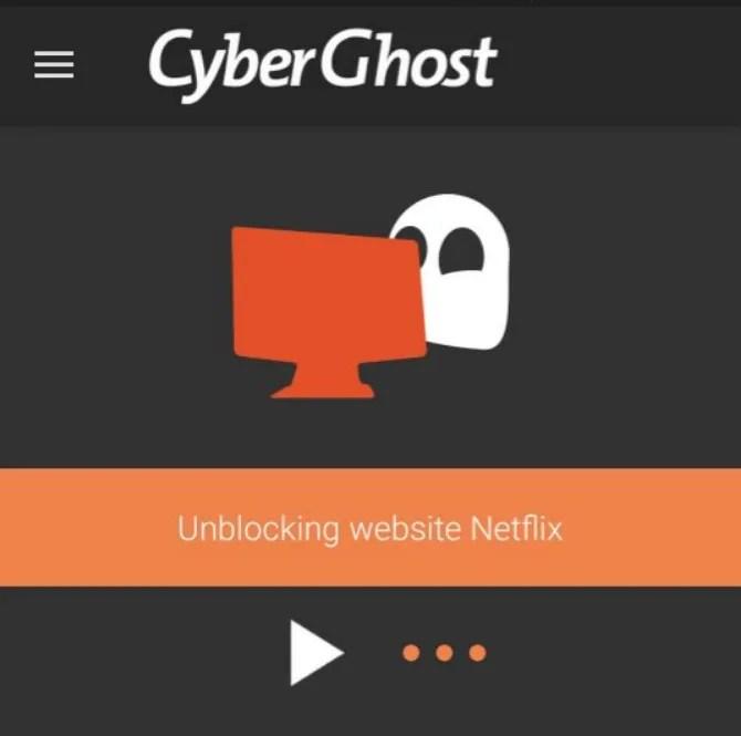 Cyberghost è la migliore VPN Netflix per telefoni Android e iPhone