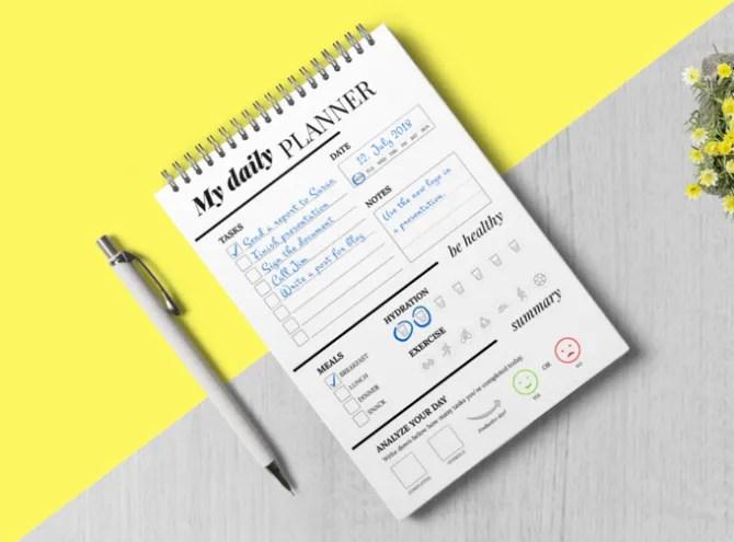 Daily Planner от Paulina — планируйте свой день и оставайтесь здоровым