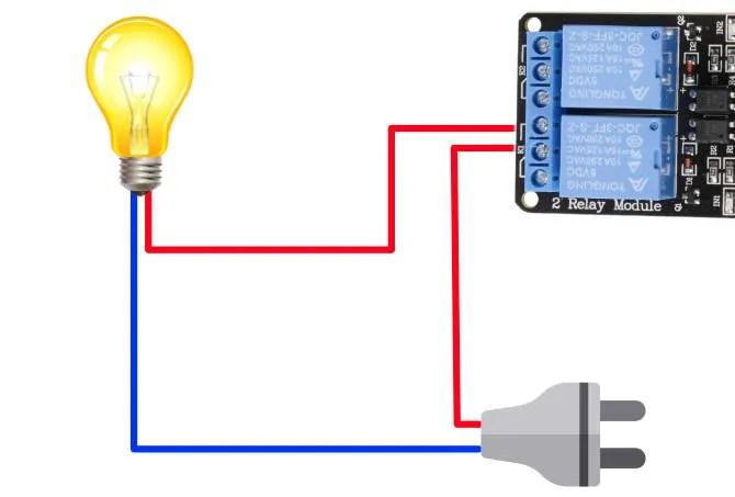 Inserimento del relè nel circuito di illuminazione