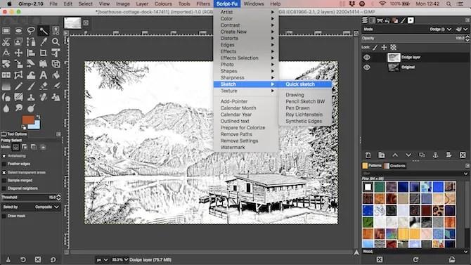 scripts bundle sketch plugin gimp