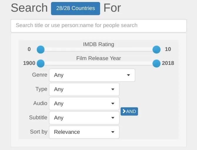 uNoGS è un motore di ricerca universale per i cataloghi Netflix in qualsiasi paese