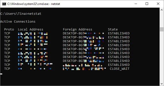 Comando Netstat