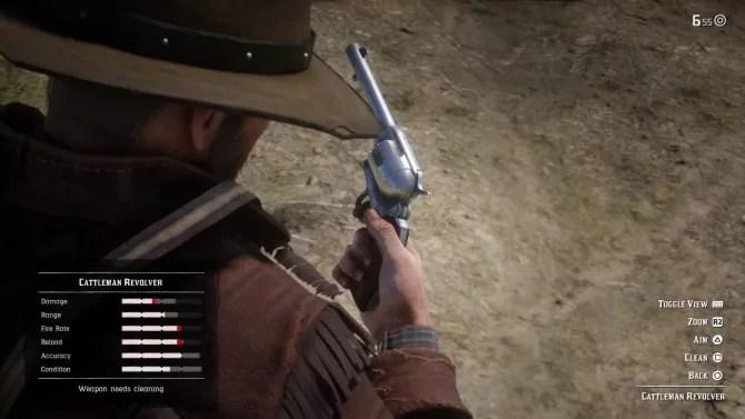 red dead redemption 2 pistole pulite