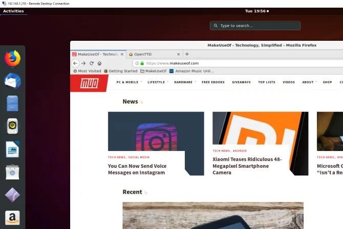 Удаленное управление Ubuntu с помощью RDP