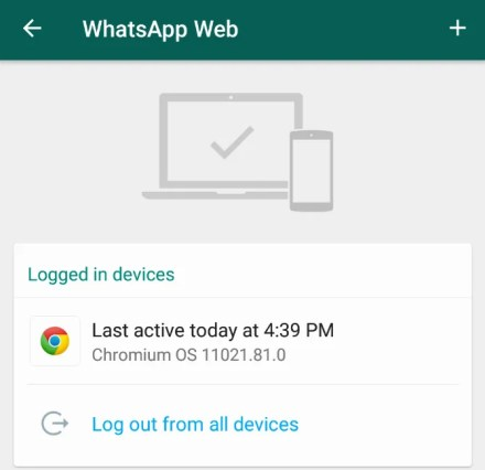 How to log out of all devices connected to whatsapp web