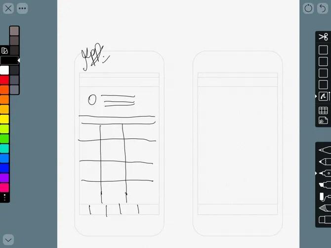 Linea Sketch App Prototype Sketching