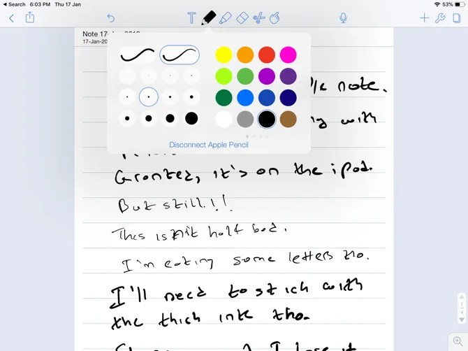 Notability Apple Pencil Notetaking