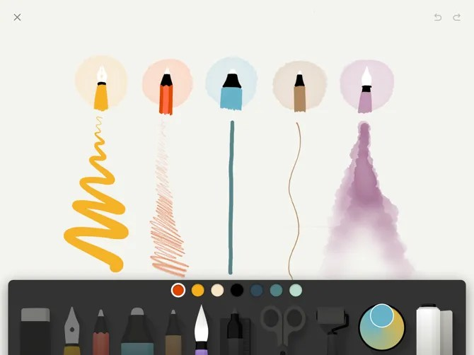 Paper by WeTransfer Apple Pencil Doodling