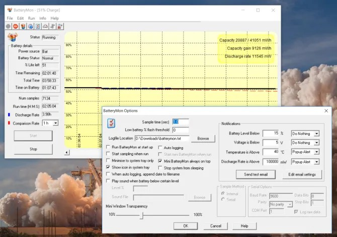 batterymon real time graphical analysis of battery health