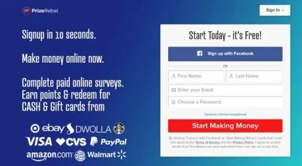 Prize Rebel Paid Surveys Online Website