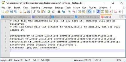 tor torrc exit node configuration