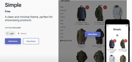Shopify Simple Theme Themes Store