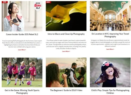 Canon Online Photography Classes