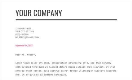 Google Docs Business Letter Template