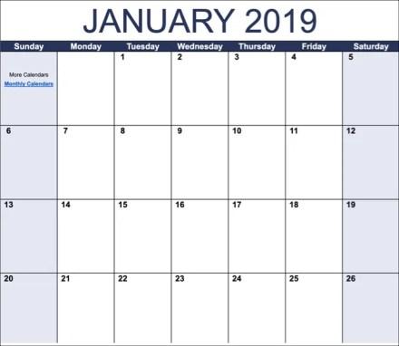 Google Docs Calendar Template