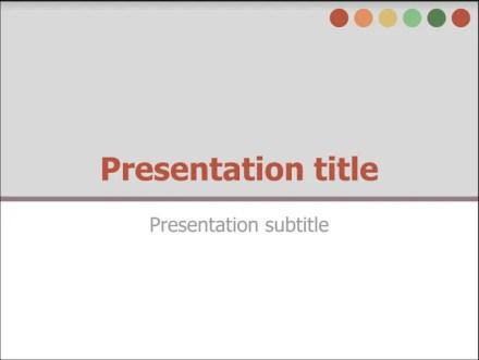 Google Docs Presentation Template