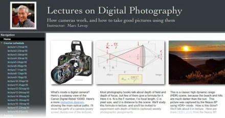 All photography lectures by Mark Levoy