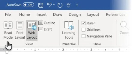 Use Microsoft Word's Read Mode for distraction free reading