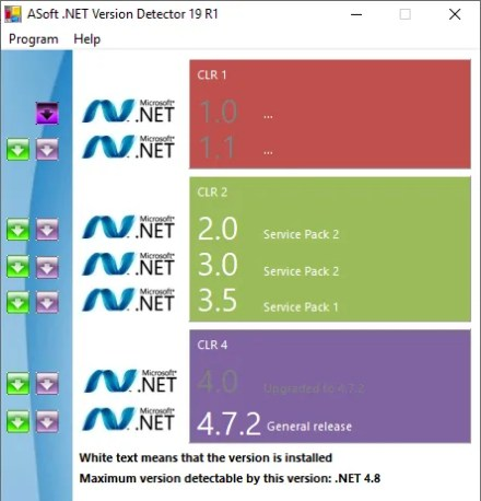 asoft net framework version detectors