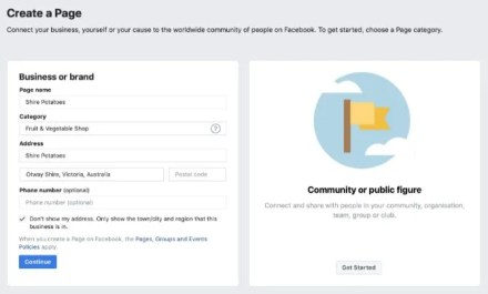 Add Details to Facebook Business Page