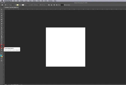 How to Make Online Photo Frame Photoshop Set Up Custom Shape Tool