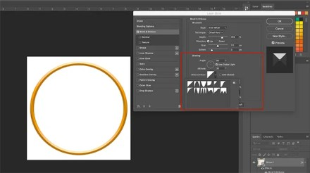 How to Make Photo Frame Photoshop Layer Style Shading