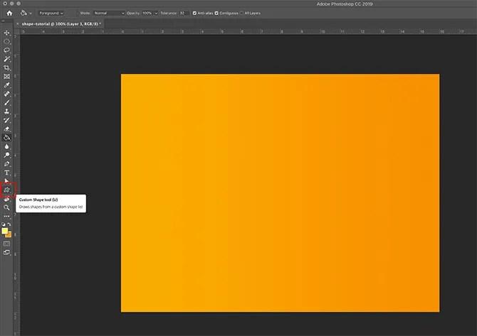 How to Use Custom Shape Tool Photoshop Understanding