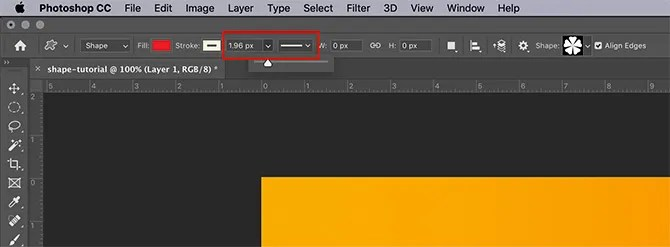How to Use Custom Shape Tool Photoshop Stroke Width and Type