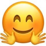 embrace hug emoji emoticon