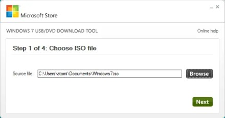 USB installer for Windows 7