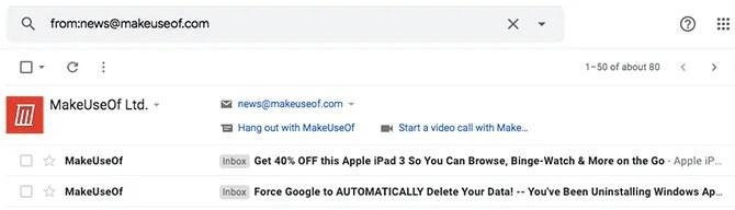 sort by sender gmail