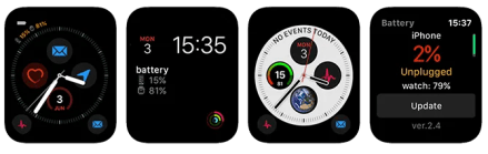 Apple Watch Complications BatteryPhone App