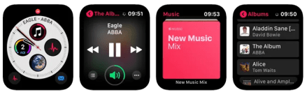 Apple Watch Streaming Apps Apple Music Faces