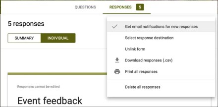 Get Notifications for Responses Google Forms