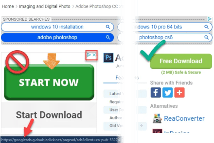 Fake Download Button on Page