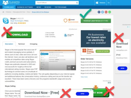 FileHippo Download Page