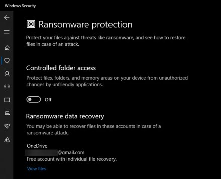 Windows Defender Controlled Folder Access