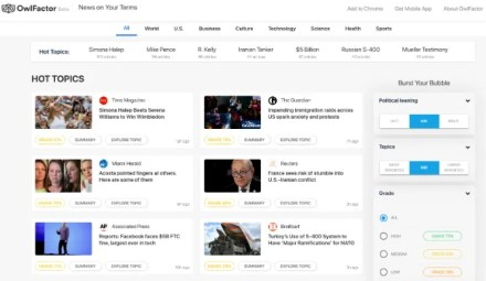Get reliable, fact-checked news with different political bias at OwlFactor