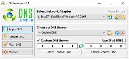 DNS Jumper dns test tool