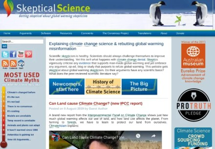 Skeptical Science is an informative blog that debunks myths about climate change denial