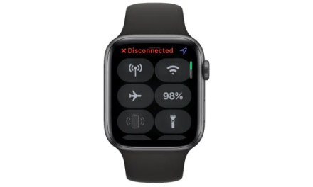 Disconnected Apple Watch